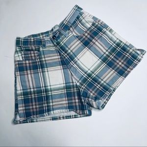 Vintage Contempo Casuals Plaid Shorts High Rise